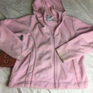 COLUMBIA Fleece Jacket Long Sleeve Full Zip Hooded